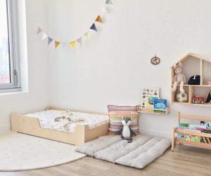 cama de suelo montessori