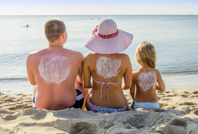 fotos familiares en la playa