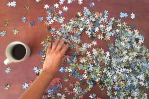montando un puzzle paso a paso